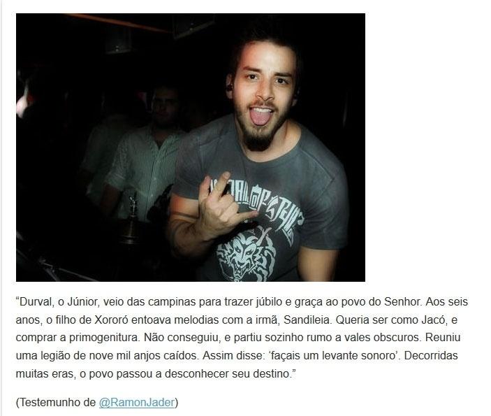 Versículo sobre o fracasso da banda de Júnior Lima, Nove Mil Anjos