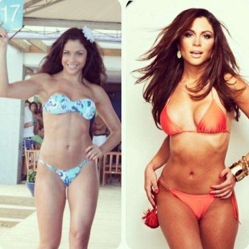 13.fev.2014 - A ex-BBB, Maria Melilo, postou foto em sua conta no Instagram comparando o seu corpo da época em que tomava anabolizantes e agora, mais natural.