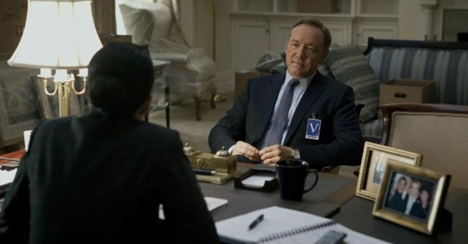 "Kevin Spacey em cena de ""House of Cards"""