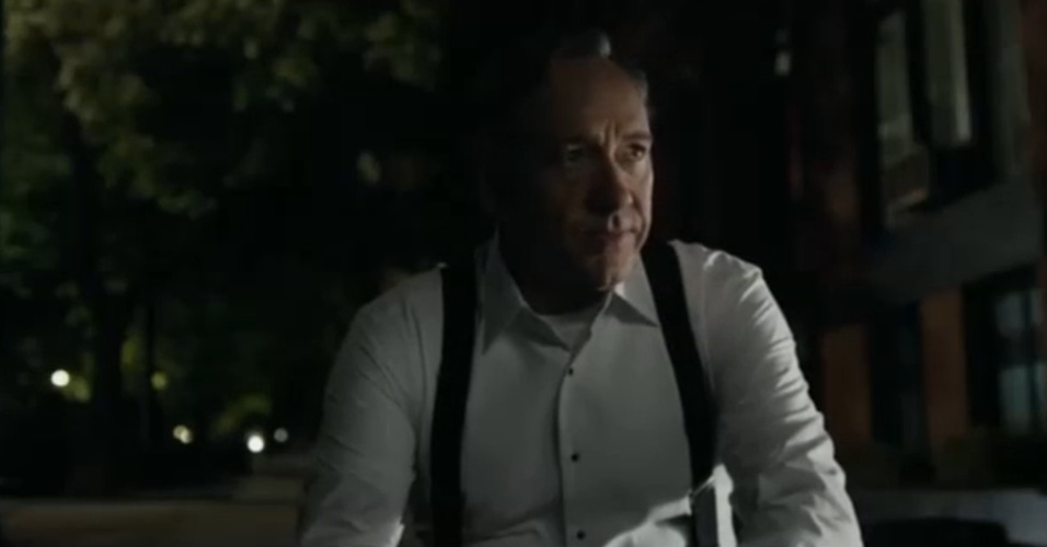 "Kevin Spacey na primeira cena da primeira temporada de ""House of Cards"""