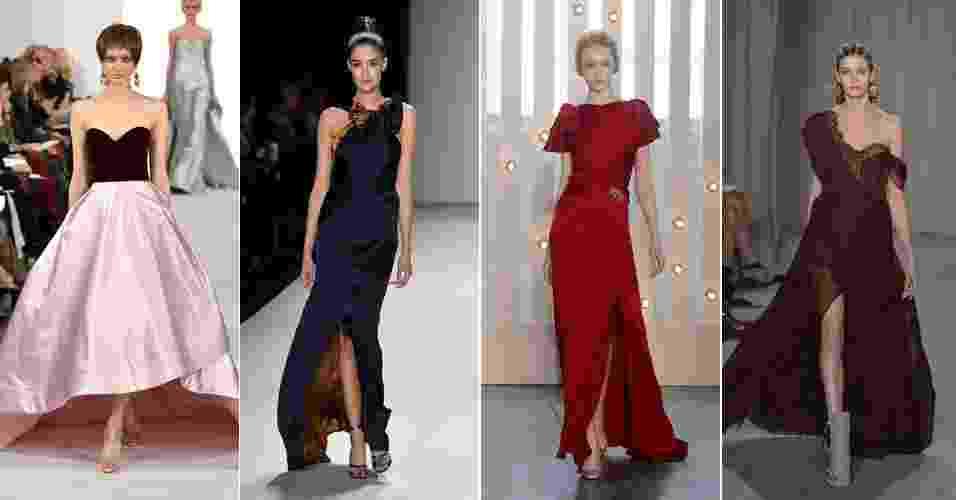 Montagem para o álbum de vestidos para convidadas de casamento da semana de moda de nova york inverno 2014 - Getty Images