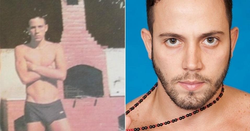 O cartomante João Almeida aparece mais magro e sem as tatuagens