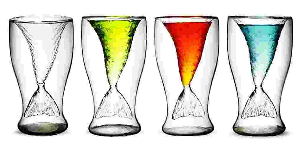 Com design inusitado, o copo Sereia é fabricado em acrílico e tem capacidade para 300 ml. O produto é comercializado pela Coisas Criativas (www.coisascriativas.com.br) por R$ 79,90  (+ frete) | Preços pesquisados em fevereiro de 2014 e sujeitos a alterações - Divulgação