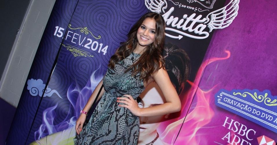 15.fev.2014 - Bruna Marquezine no show de gravação do 1º DVD da cantora Anitta. Com o tema