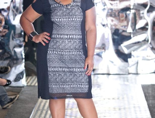 15.fev.2014 - O Grupo Mulheres Reais realizou um desfile na tarde de sábado (15) em São Paulo para apresentar novidades para mulheres plus size. As modelos, com manequins que variam do 46 ao 52, mostraram peças de sete marcas para a coleção de Inverno