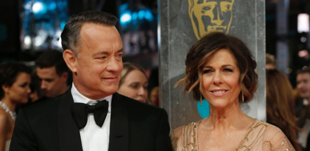Tom Hanks e Rita Wilson no BAFTA 2014 - AFP