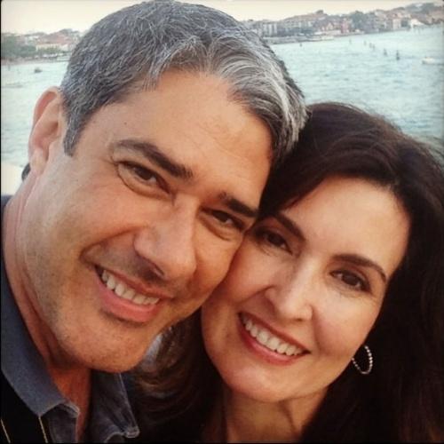 17.fev.2014 - William Bonner comemora 24 anos de casado com Fátima Bernardes
