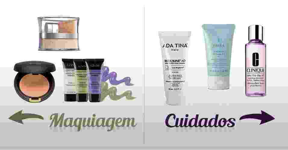 Confira uma lista de produtos cosméticos que vão lhe ajudar a lidar com a pele sensível - Arte UOL