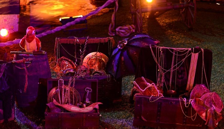 15.fev.2014 - Decoração da Festa Pirata