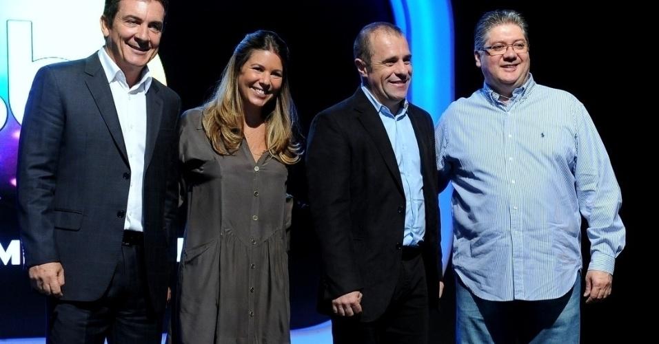 18.fev.2014 - O diretores Murilo Fraga, Daniela Beyruti, Fernando Pelegio e Leon Abravanel apresentaram as novidades na programação para 2014
