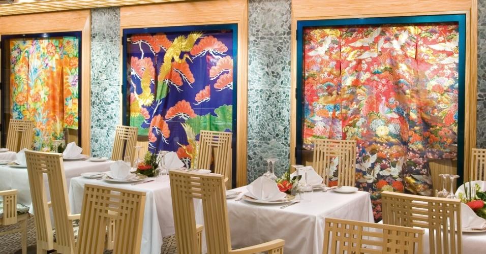 O restaurante do Samsara Spa, presente nos navios da Costa Cruzeiros que estão atuando na temporada brasileira (Costa Favolosa e Costa Fascinosa), tem no menu alimentos orgânicos, entre outras opções saudáveis