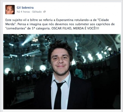 Reprodução/Blog Oscar Filho
