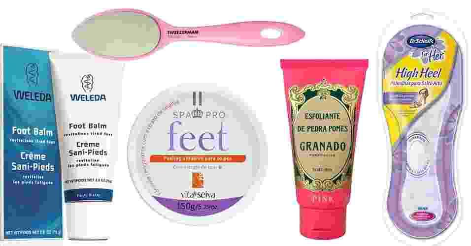 Produtos para cuidados com os pés - Divulgação