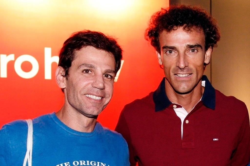 18.fev.2013 - Marcio Atalla e Emanuel Rego prestigiaram o Rio Open, maior torneio de tênis da América do Sul, que acontece no Jockey Club Brasileiro, no Rio