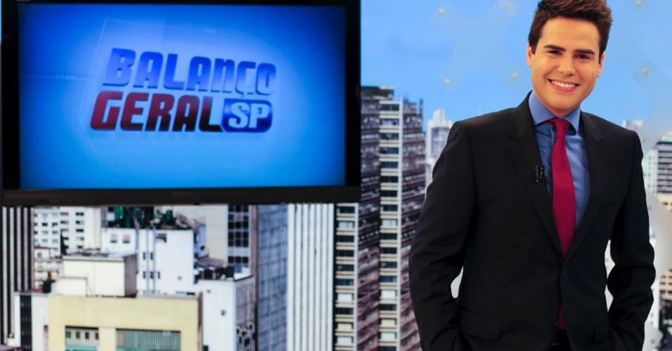 """19.fev.2014 - """"Sou viciado em audiência"""", revelou Bacci, que com nove pontos no Ibope ficou à frente do """"Vídeo Show"""" da Globo na última terça-feira"""