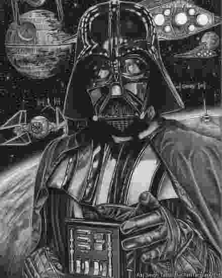 Darth Vader desenhado pelo britânico Raj Singh Tattal, diagnosticado com Síndrome de Asperger - Raj Singh Tattal/The PenTacular Artist