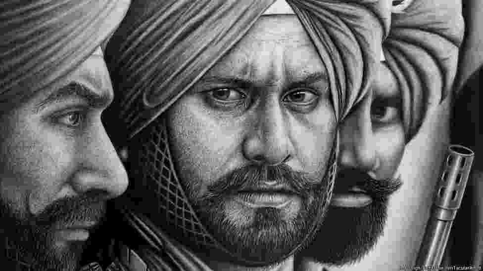 Desenho feito pelo britânico Raj Singh Tattal, diagnosticado com Síndrome de Asperger - Raj Singh Tattal/The PenTacular Artist