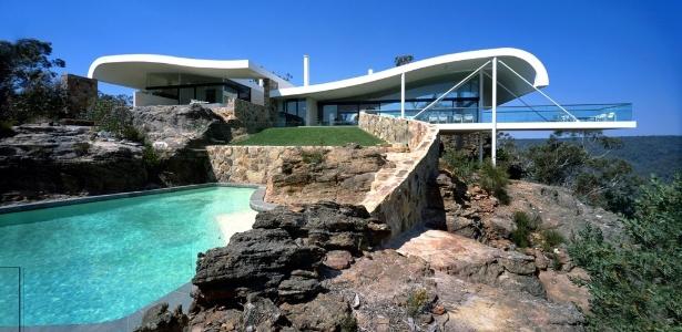 Na mostra do  MCB sobre Harry Seidler, a influência de Niemeyer pode ser vista na Casa Berman (1996-99) - Eric Sierins/ Divulgação