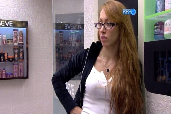 21.fev.2014 - Aline diz que se Diego for para o paredão, pode não voltar: