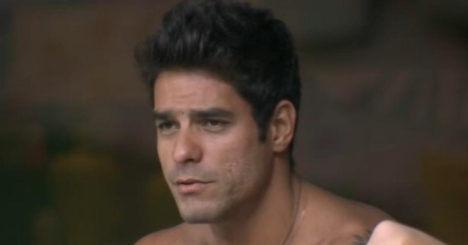 21.fev.2014 - Diego acredita ser o possível voto da líder Aline para o próximo paredão