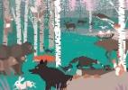 Livro cheio de ilustrações mostra o que os animais fazem durante a noite