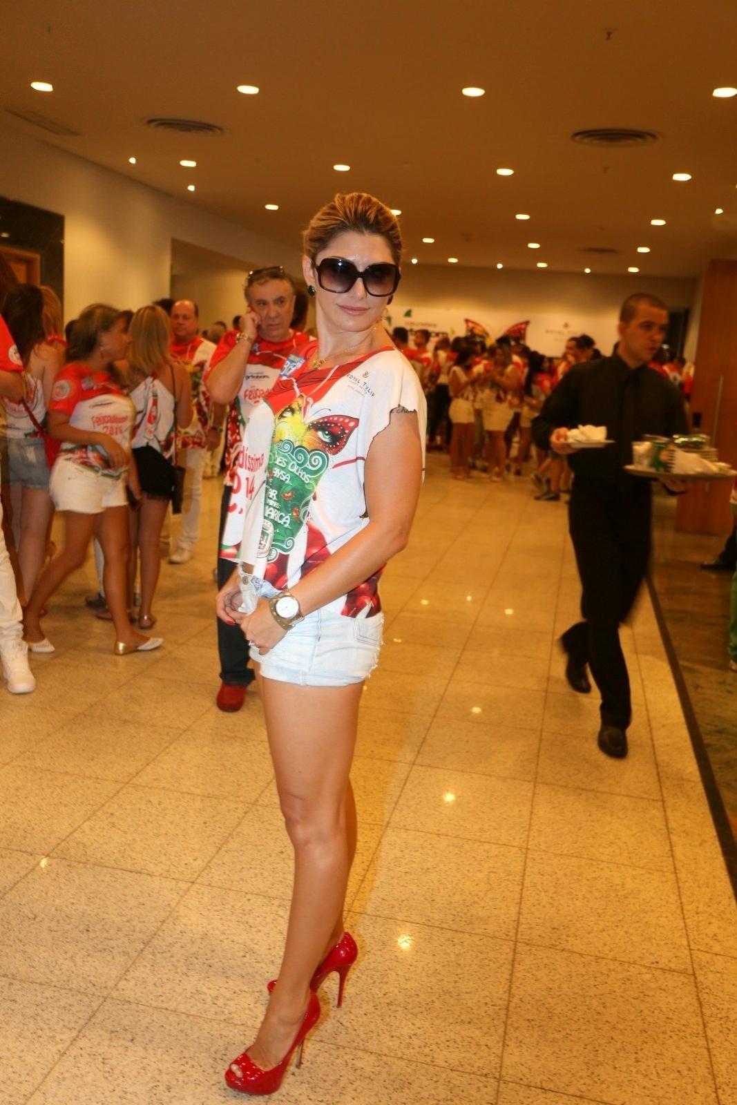 23.fev.2014 - Antônia Fontenelle na Feijoada da Grande Rio no Hotel Royal Tulip, em São Conrado, na Zona Sul do Rio de Janeiro, na tarde deste domingo (23)
