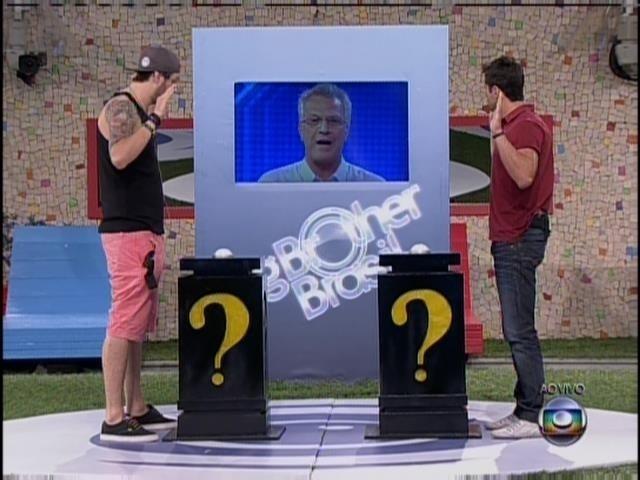 23.fev.2014 - Cássio erra pergunta e Marcelo vai pra final