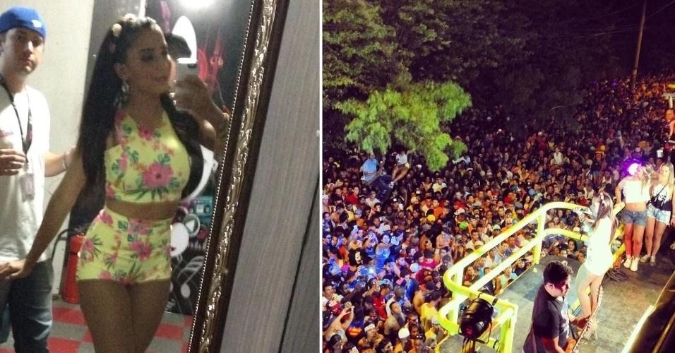 23.fev.2014- Anitta comanda pré-Carnaval em MG. A cantora carioca agitou o público mineiro ao subir no trio elétrico na cidade de Contagem, Região Metropolitana de Belo Horizonte