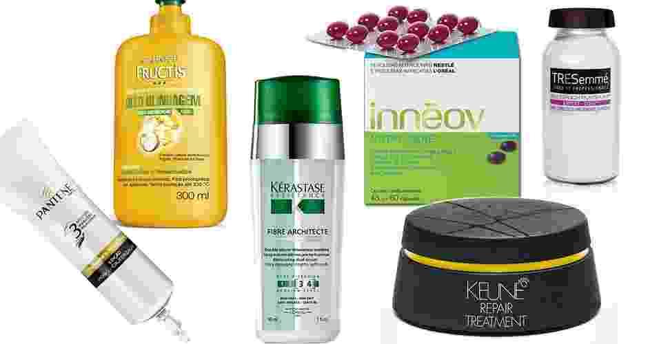 Abre- mix de produtos para restaurar cabelos longos - Divulgação