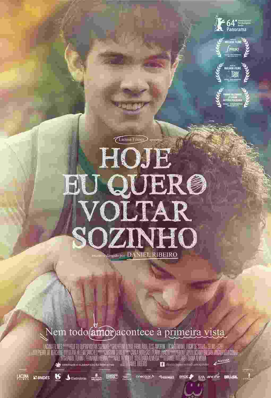 """Pôster do filme """"Hoje Eu Quero Voltar Sozinho"""", de Daniel Ribeiro - Divulgação"""