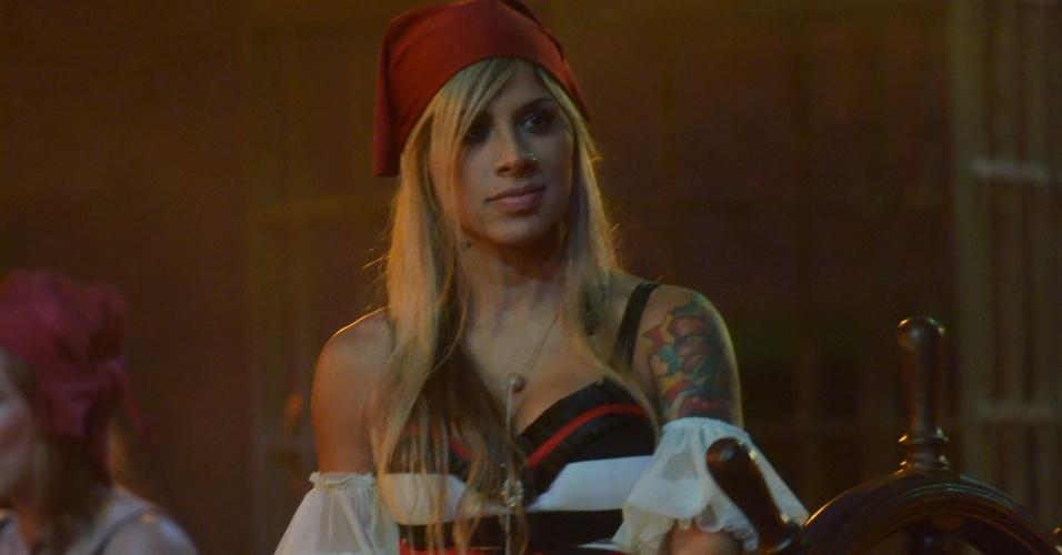 15.fev.2014 - Vanessa na Festa Pirata