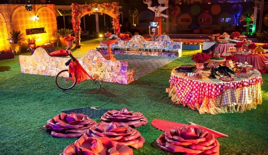 22.fev.2014 - Decoração da Festa Viva Espanha