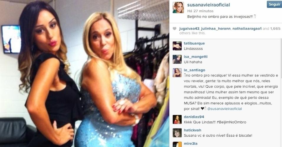 26.fev.2014 - Em outro post, Susana Vieira deu seu recado ao lado da ex-BBB: