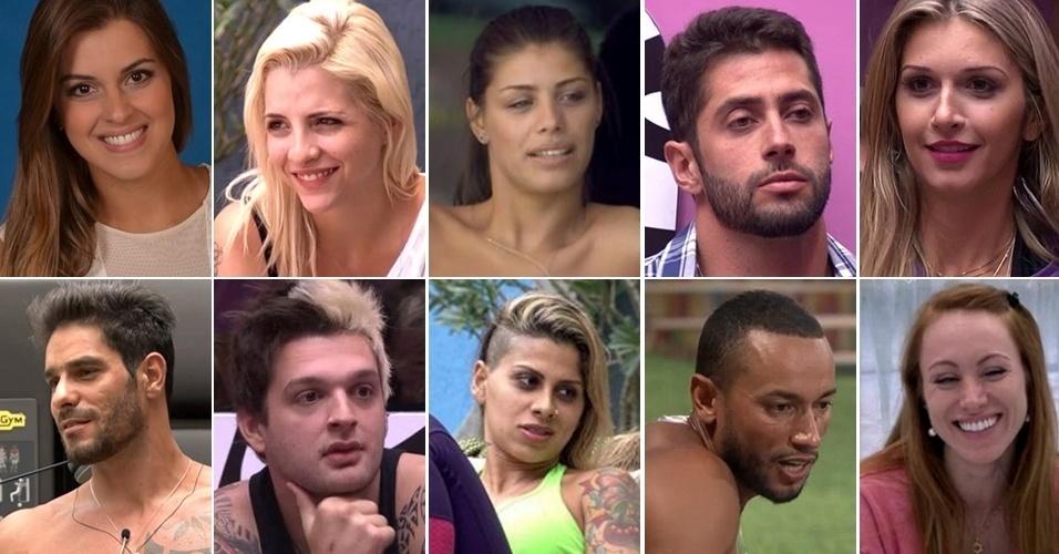 Montagem de fotos de Aline, Angela, Cássio, Clara, Francine, Marcelo, Diego, Tatiele, Vanessa e Valter
