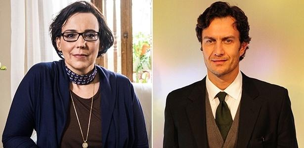 """Os personagens Selma (Ana Beatriz Nogueira) e Laerte (Gabriel Braga Nunes), de """"Em Família"""" - Divulgação/TV Globo"""