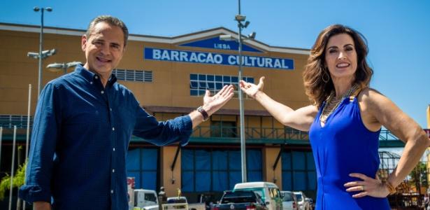 Fátima Bernardes e Luís Roberto comandam o Carnaval da Globo - TV Globo/Divulgação