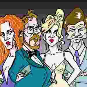 """""""Trapaça"""", outro favorito da noite, com 10 indicações, incluindo melhor filme, ator, atriz, ator e atriz coadjuvante, diretor e roteiro original - Morettini e Jal/UOL"""