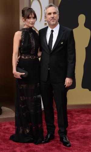 """2.amr.2014 - O mexicano Alfonso Cuarón, indicado ao prêmio de Melhor Diretor por """"Gravidade"""", chega à 86 edição do Oscar"""