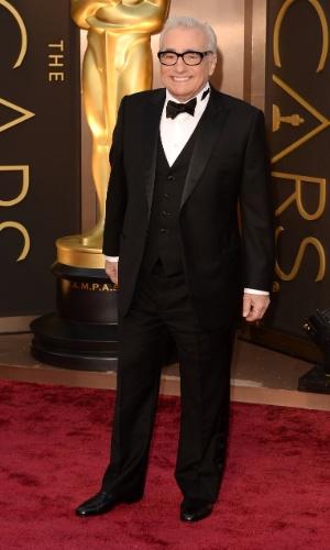 """2.mar.2014 - Martin Scorsese, indicado ao prêmio de Melhor Diretor por """"O Lobo de Wall Street"""", é fotografado no tapete vermelho"""