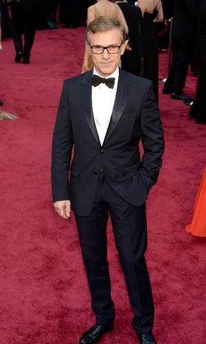 2.mar.2014 - O ator  Christoph Waltz chega ao Dolby Theatre