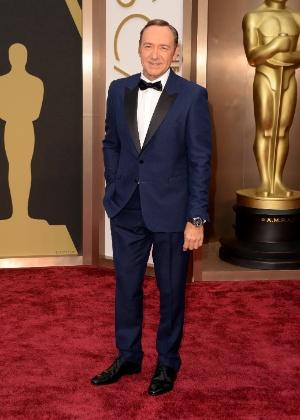 O ator Kevin Spacey no tapete vermelho do Oscar 2014 - Getty Images