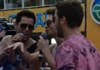 Tomate recebe Levi Lima e Fiuk durante passagem de trio em Salvador - Divulgação