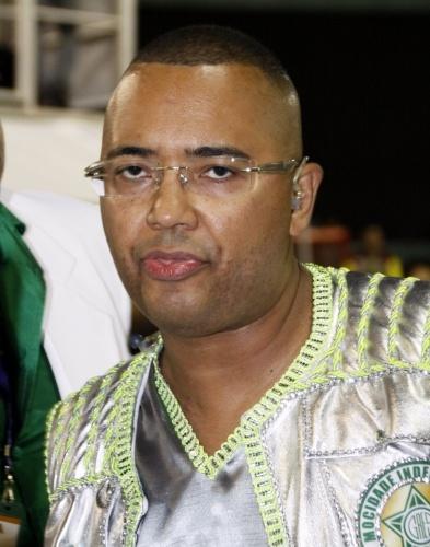 3.mar.2014 - O cantor Dudu Nobre é o puxador de samba da Mocidade Independente de Padre Miguel
