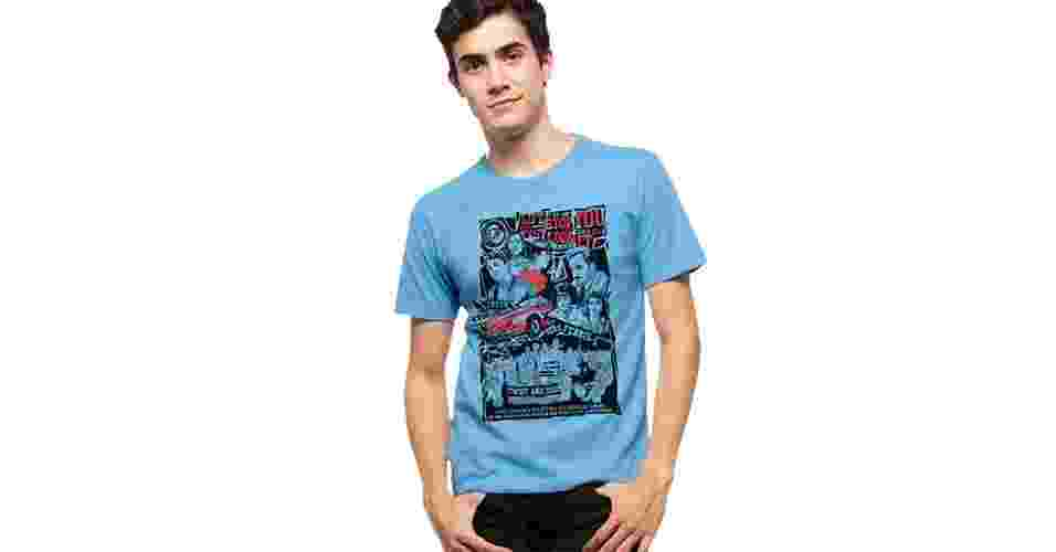 """Camiseta """"Curtindo a Vida Adoidado""""; R$ 29, na Reverb City (www.reverbcity.com) Preço pesquisado em março de 2014 e sujeito a alterações - Divulgação"""