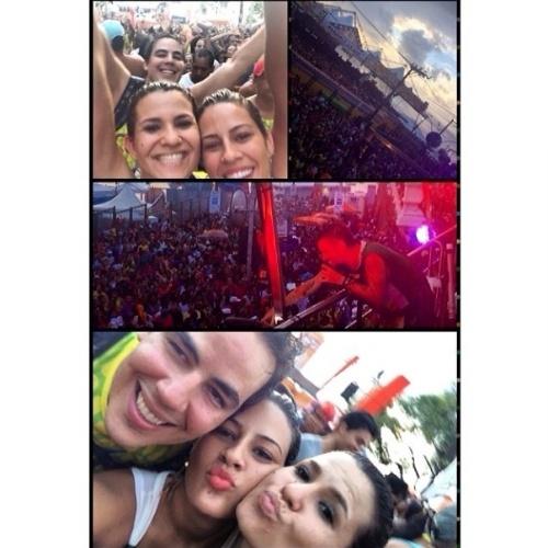 """04.mar.2014 - Princy publica montagem no Carnaval de Salvador: """"Momentos incríveis no Trio de Saulo"""", escreveu"""