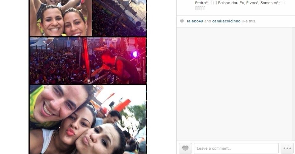 04.mar.2014 - Princy publica montagem no Carnaval de Salvador: