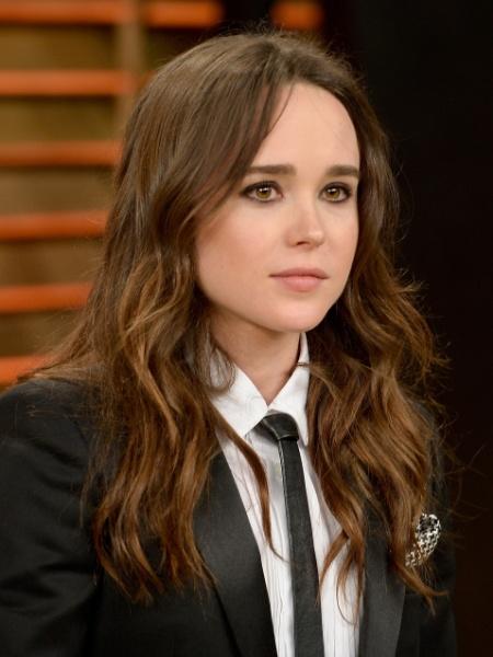 04.mar.2014 - Atriz Ellen Page na festa pós-Oscar promovida pela revista Vanity Fair - Getty Images