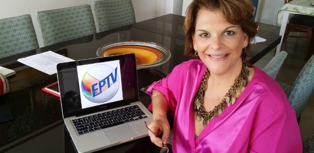 A diretora Leonor Corrêa assina com a EPTV