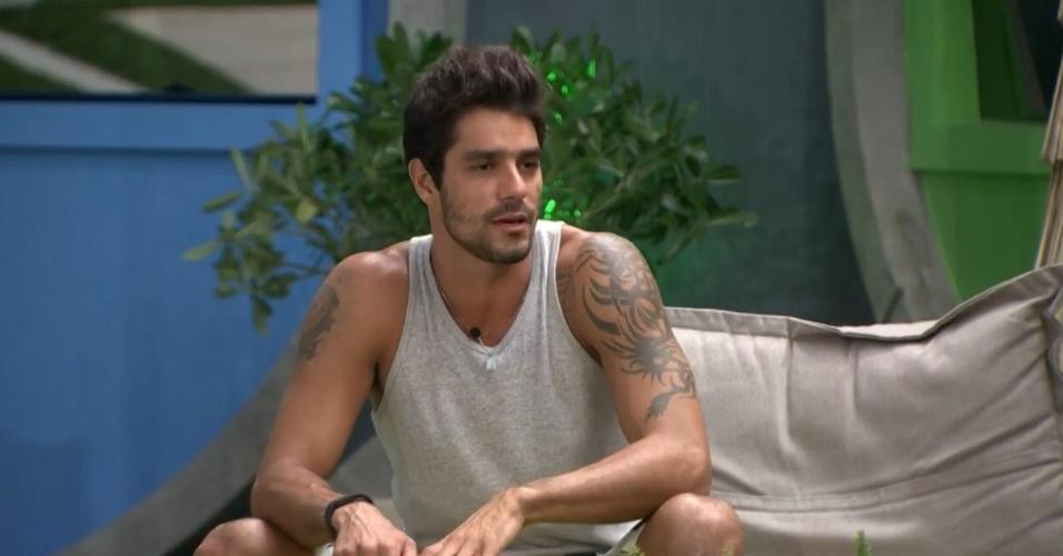 10.mar.2014 - Diego critica Clara e Vanessa
