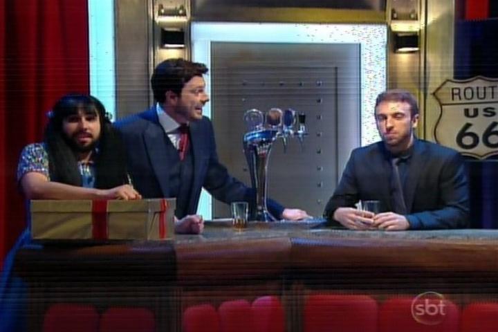 """10.mar.1014 - Murilo Couto, Danilo Gentili e Leo Lins na estreia do """"The Noite"""""""